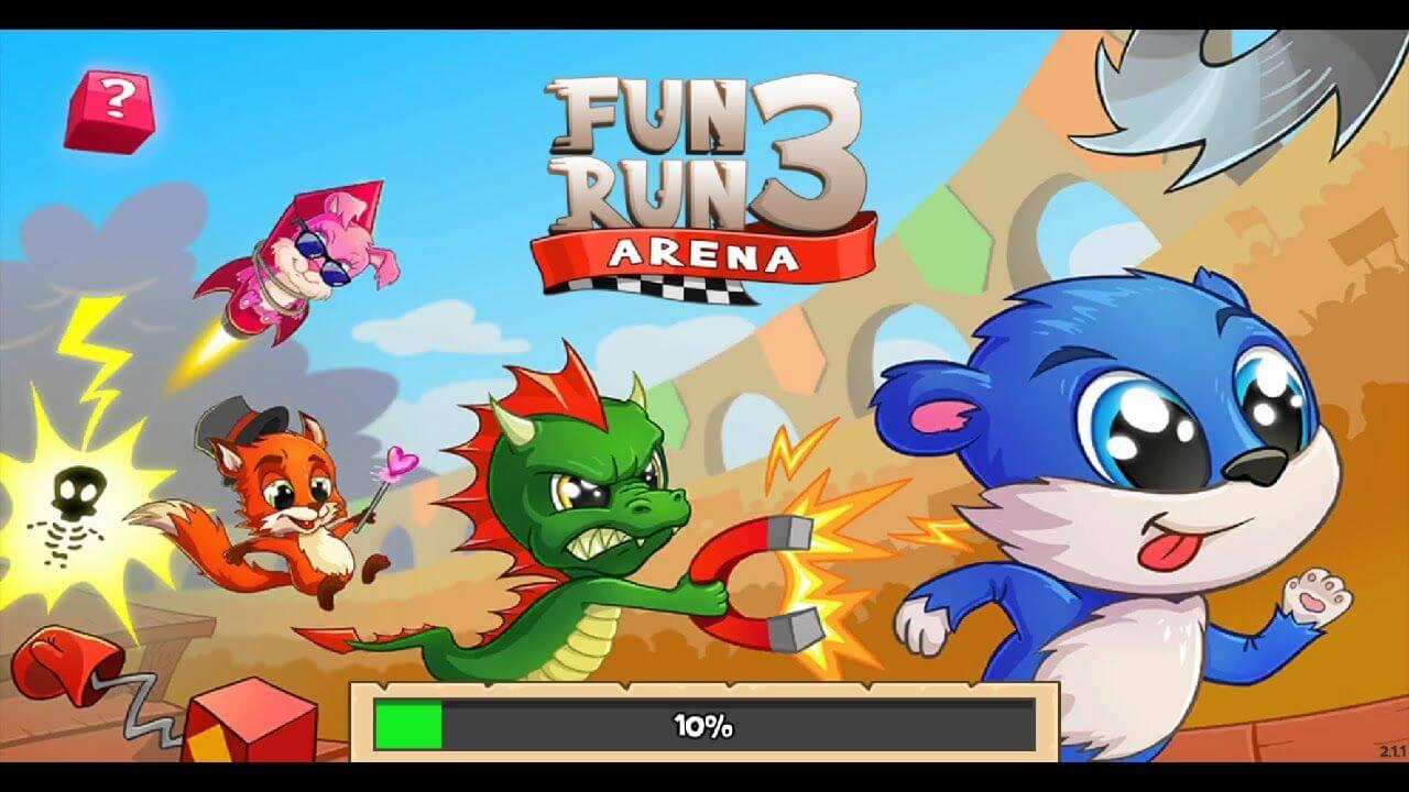 top 10 game dua xe online offline hay nhat cho dien thoai android Fun Run 3
